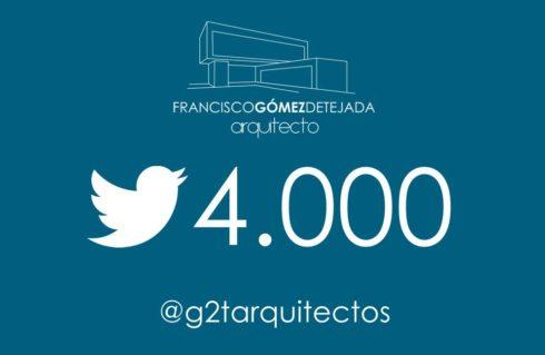 Llegamos a los 4.000 seguidores en Twitter