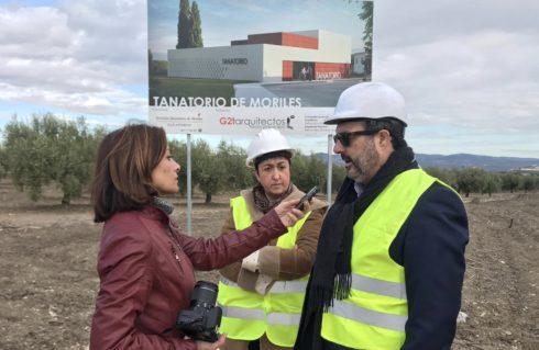 Puesta la primera piedra del Tanatorio de Moriles (Córdoba).