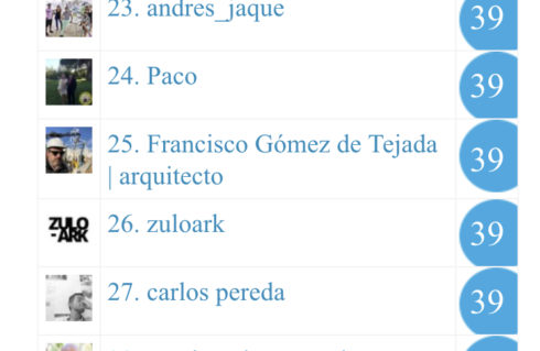 En el puesto 25 de las cuentas de Twitter sobre arquitectura en España!