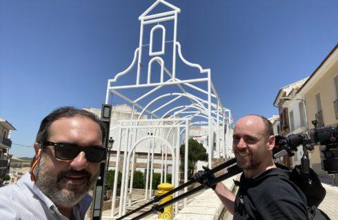 Javier Orive realiza reportaje fotográfico a nuestro proyecto de la Ermita de Santa Catalina