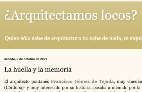 «LA HUELLA Y LA MEMORIA». ARTÍCULO DE JOSÉ RAMÓN HERNÁNDEZ CORREA.